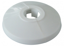 Pipe Collar Two Part 22mm White