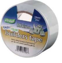 Builders Tape White 50mm x 33m