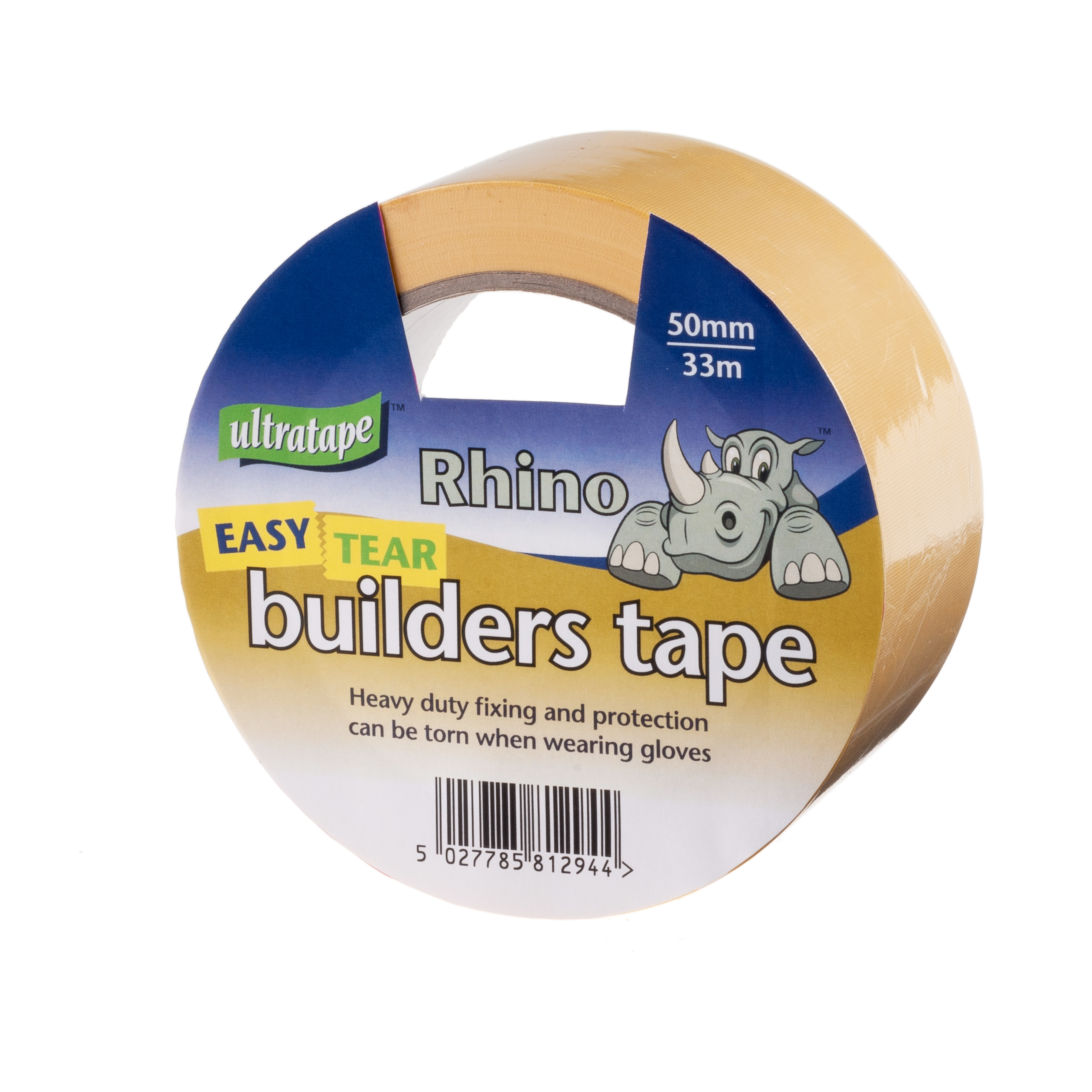 Builders Tape Yellow 50mm x 33m