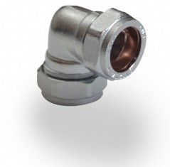 Chrome Plated Compression Elbow 15mm