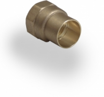 Copper End Feed Coupler 15mm to 1/2 inch FI