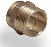 Copper End Feed Male Iron Coupling 15mm