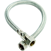 Flexible Tap Connector 15mm x 1/2 inch x 50cm with ISO LB