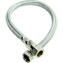 Flexible Tap Connector 15mm x 1/2 inch x 50cm with ISO valve