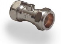 Chrome Isolating Valve 15mm