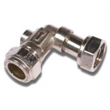 Chrome Service Valve Angled 15mm