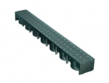 UG Drain Channel Shallow Black Grate Manthorpe