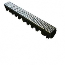 UG Stormdrain Plus Drain Channel 1m Galvanised Lid