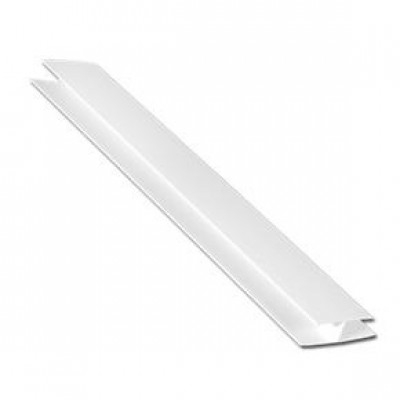 Hollow Soffit H Section Trim White