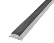 Hollow Soffit H Section Trim Black Ash