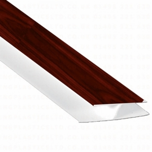 Hollow Soffit H Section Trim Rosewood