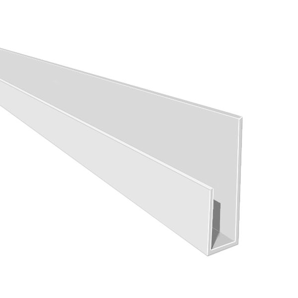 Hollow Soffit J Starter Trim White