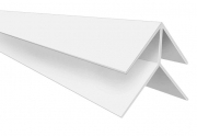 Hollow Soffit External Corner Trim White