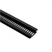 Soffit Vent Strip H Section 5m BLACK