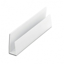 KESTREL Shiplap 150mm Universal U Edge Trim White 5m