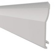 Shiplap 150mm 1 part Internal Corner Trim White
