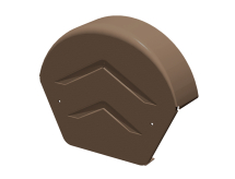 Manthorpe Ridge / Dry Verge End Cap Round Top Brown