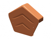 Manthorpe Ridge / Dry Verge End Cap Angled Terracotta