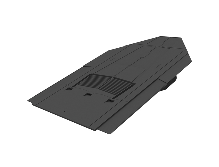 Tile Vent Inline Slate Grey 500x250mm (No adapter reqd)