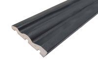 PVC Architrave/Skirting Board 125mm 5m Antracite Grey Grain