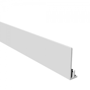 Open Vee Cladding Starter Trim White