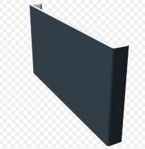 Cappit Fascia 410mm Double Ended Anthracite Grey