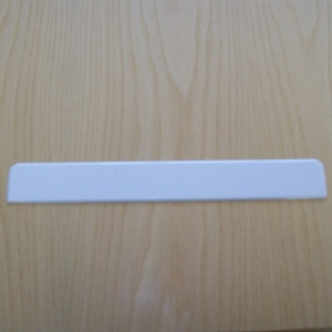Fascia Large Double End Cap White 300mm