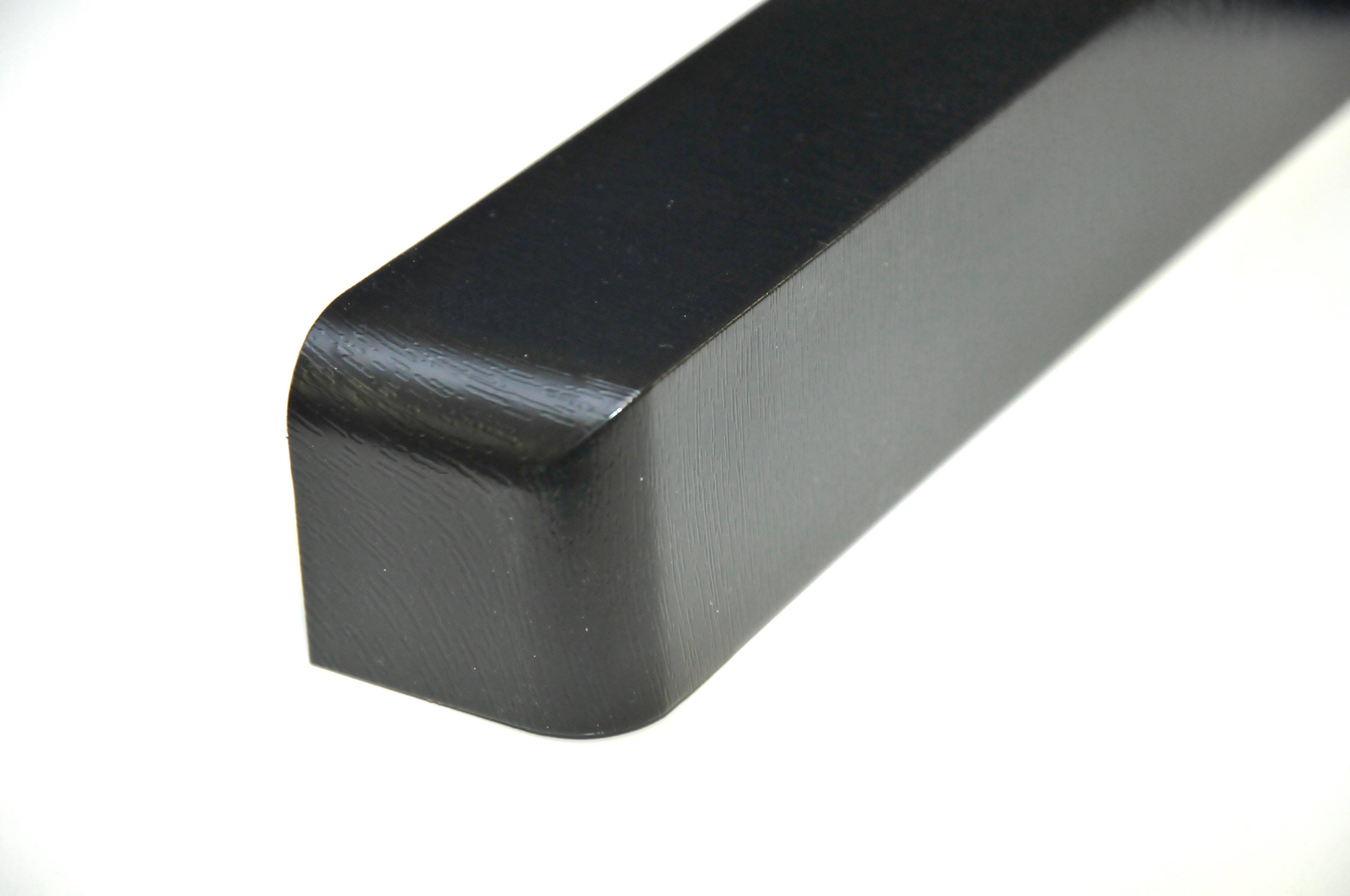 Fascia Single Corner Black Ash