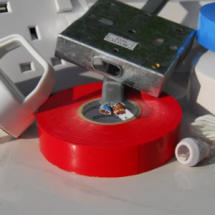 3 Core Round Mains White Cable 1.5mm x 1 METRE