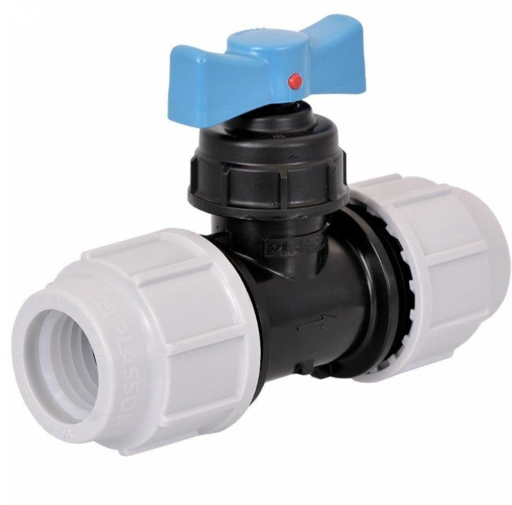 MDPE Poly Mains Stop Tap 50mm FI FI