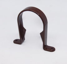 Half Round Pipe Clip Brown
