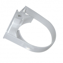 Hi Cap Pipe Clip 80mm White