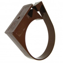 Hi-Cap Pipe Clip 80mm Brown
