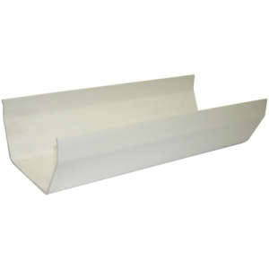 Square Gutter 4m White