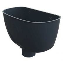 Round Hopper Anthracite Grey
