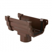 Floplast Ogee Running Outlet Square Brown