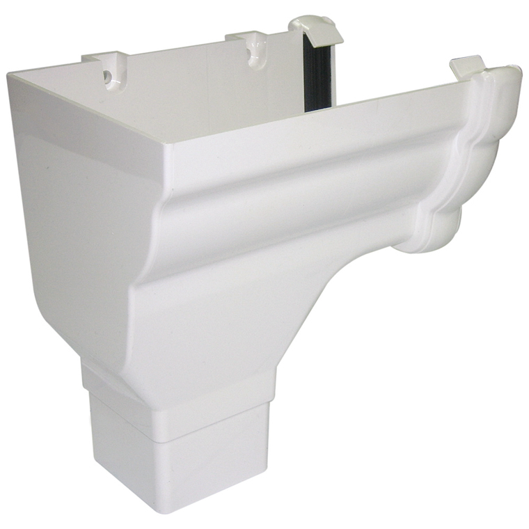 Floplast Ogee Stopend Outlet LH  White