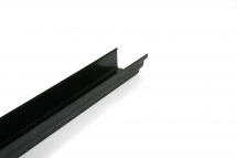 Floplast Ogee Stopend Outlet - RH Square Black