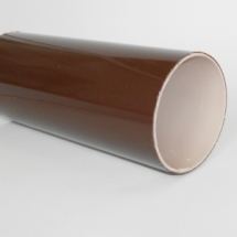 Round Downpipe 5.5m Brown