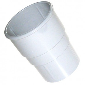 Hi Cap Pipe Socket 80mm White