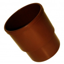 Hi Cap Pipe Socket 80mm Brown