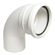 RS Bend 110mm SS 92 deg White