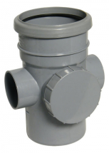 RS 110mm Access Pipe Socket/Spigot Grey