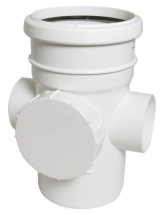 RS 110mm Access Pipe Socket/Spigot White