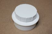 110mm RS Screwed Access Cap White