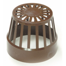 RS 110mm Vent Terminal Brown