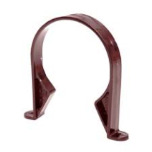 RS 110mm Pipe Clip Brown
