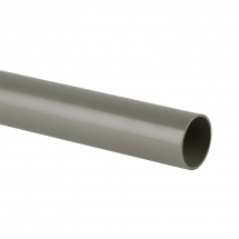 Pipe 50mm SOLVENT 3m Grey