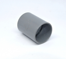 Straight Coupler 40mm SOLVENT Grey
