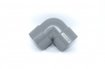 Bend 90 deg Knuckle 40mm SOLVENT Grey